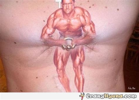 chest tattoo around nipple bodybuilder holding a piercing with nipples funniest tattoo