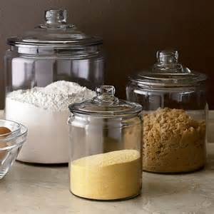Glass Kitchen Canisters by The Polished Pebble Modern Country Style Kitchen Storage