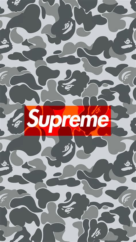 Bape Camo Iphone All Semua Hp supreme bape camo 1080 x 1920 wallpapers