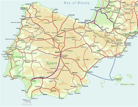 of spain map of spain