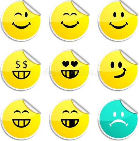 Smiley Sticker Free Download by Smiley Stickers Stock Vector Illustration Of Sign Face
