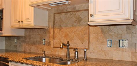 tumbled marble kitchen backsplash new jersey custom tile