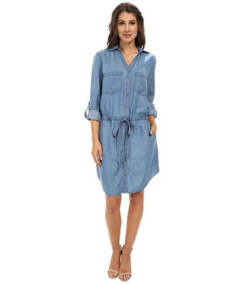 Dress Deniminner miraclebody dixie tencel denim dress w shaping inner shell santa 6pm