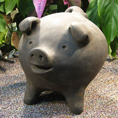 Weathered Cast Stone Planters by Chanchito Pig
