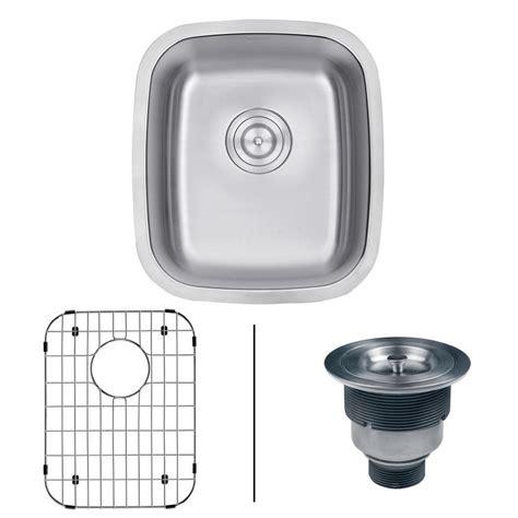 18 Kitchen Sink Ruvati 15 In X 18 In Undermount 16 Stainless Steel Bar Prep Single Bowl Kitchen Sink