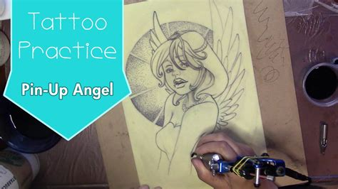 tattoo fake skin practice pin up angel alessandro