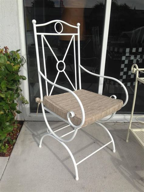Handmade Patio Furniture - handmade white wrought iron patio dining set garden