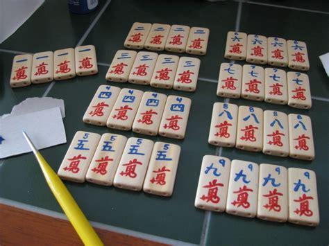 Handmade Mahjong Set - custom painted mahjong set make