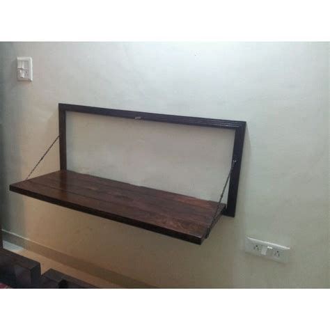 Table Mount by Wooden Study Table Wall Hung Suryanagri Handicrafts