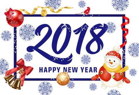 happy  year lettering  snowman vector