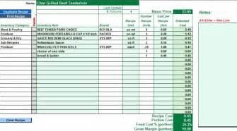 restaurant costing template ezchef software inventory management menu costing and
