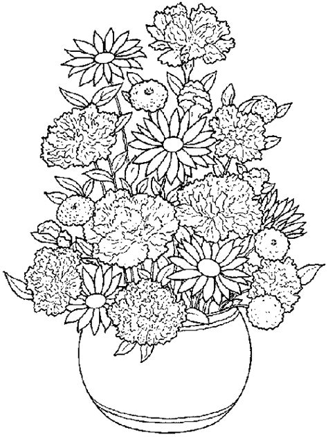 free coloring pages flower pots coloring pages of flower pots flower coloring pages of
