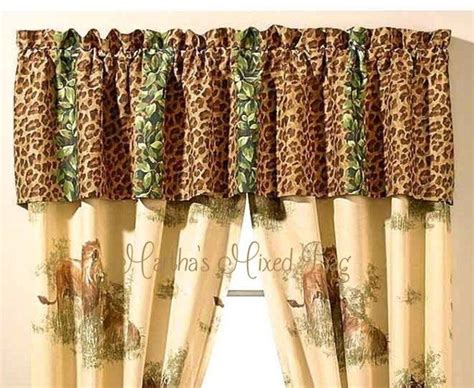 jungle print curtains safari jungle brown leopard animal print window treatment