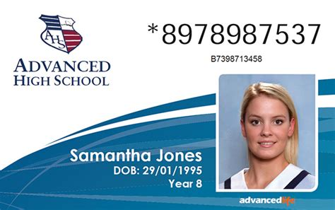 student id template id cards advancedlife school photography and print