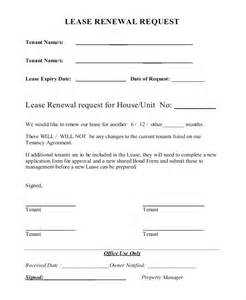 Residential Lease Agreement Renewal Letter Lease Extension Form Lease Extension Agreement Sle Lease Extension Agreement 8