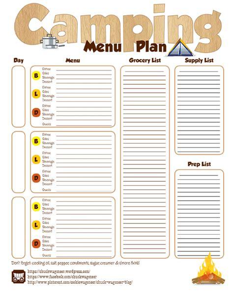 grocery list free printable template id 233 er 88 cing menu planner cing menu planner printable