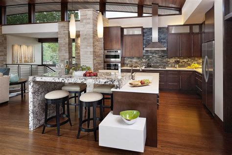 open kitchen design with island open kitchen designs