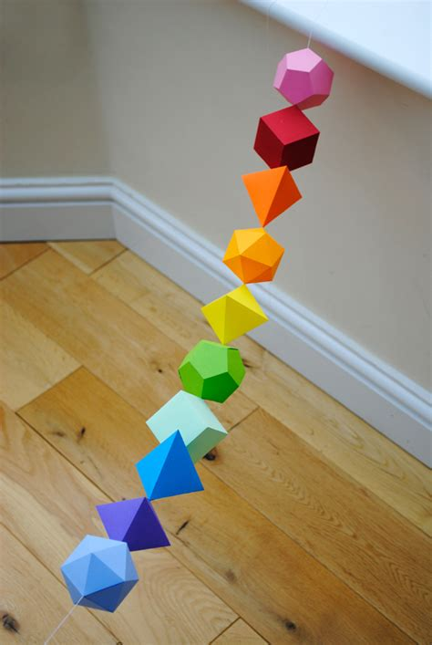 How To Make Paper 3d Shapes - leuke lintjes tijd voor een slinger