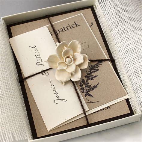 Hochzeitseinladung Box by Burlap Wedding Invitations Rustic Boxed Wedding Invitations