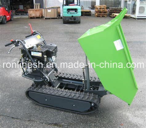 Track Wheels 180cm china hydraulic 9hp engine power 500kgs rubber track mini dumper power barrow muck truck garden