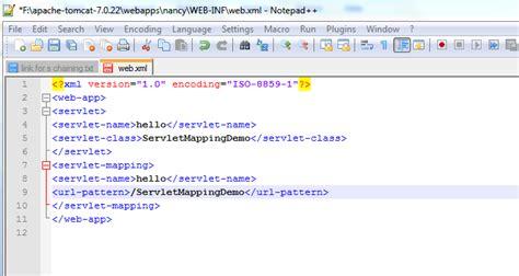 url pattern web xml servlet mapping servlets servlet mapping