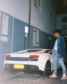 Asap Rocky Lamborghini Mercy Asap Rocky Parks White Lamborghini Wearing Gucci And