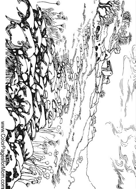 free printable coloring pages for adults landscapes landscape coloring page 39