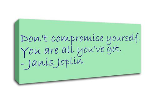 janis joplin dont compromise  text quotes panoramic panel canvas panoramic canvas