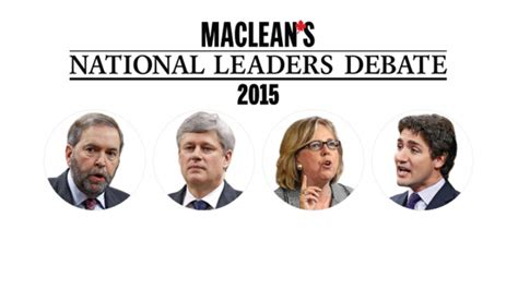 Featured In Macleans 2 by What To For In The Maclean S Debate Breakfast