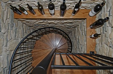 Wine Cellar Spiral Staircase Central Ohio Remodelers Showcase Home Remodeling