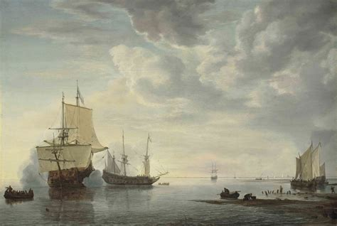 the sle room in the saleroom simon jacobsz de vlieger s frigates exchanging salutes in a calm