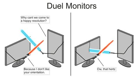 Meme Monitor - when people spell dual monitors as duel monitors