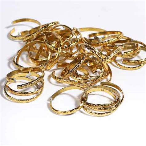 gold novelty wedding favor rings doll accessories doll