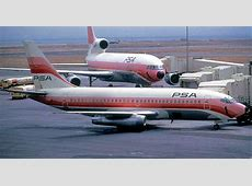 PSA 737-200 and L-1011 at KSFO mid 1970's   Pacific ... B 24 Ball Turret