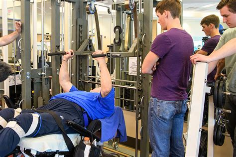 mechanical bench press bench press machine for wheelchair users designed by university of tulsa students