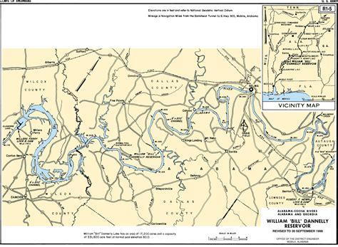 coosa river map mobile district gt missions gt civil works gt recreation