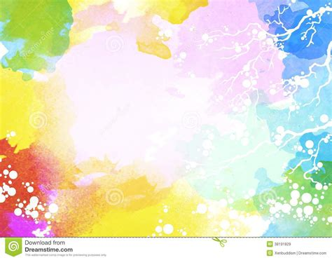 Water Multi Colors multi color watercolor background stock illustration