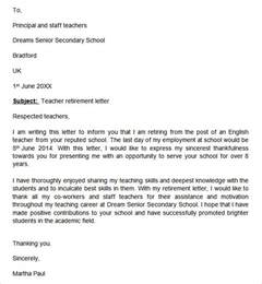 Employer Cover Letter by Sle Retirement Letter Employer To Employee Cover