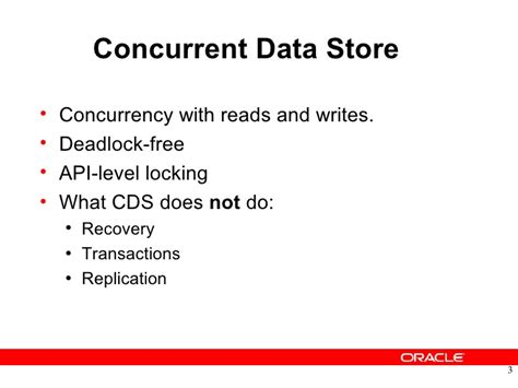 Oracle Tutorial Concurrency | oracle berkeley db concurrent data storage cds tutorial