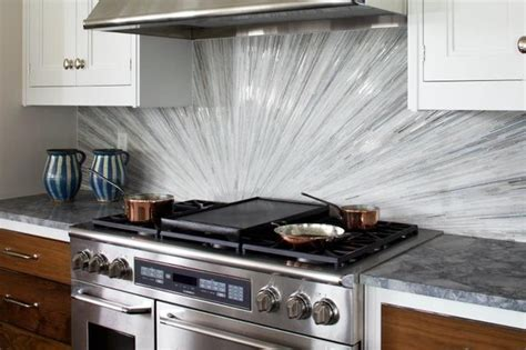 Kitchen With Glass Tile Backsplash Glass Tile Backsplash Contemporary Kitchen Dc Metro