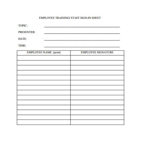 Employee Sign In Sheet Template by Employee Sign In Sheet Template For Employee Sign In