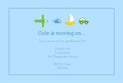 going away template going away invitation template best template