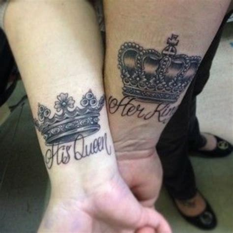 45 cute king and queen tattoo for couples buzz 2018