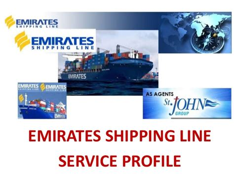 emirates shipping line emirates shipping service profile for customers