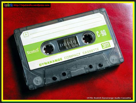 Cassette C90 Sony 1970s scotch dynarange c90 audio cassette tardis