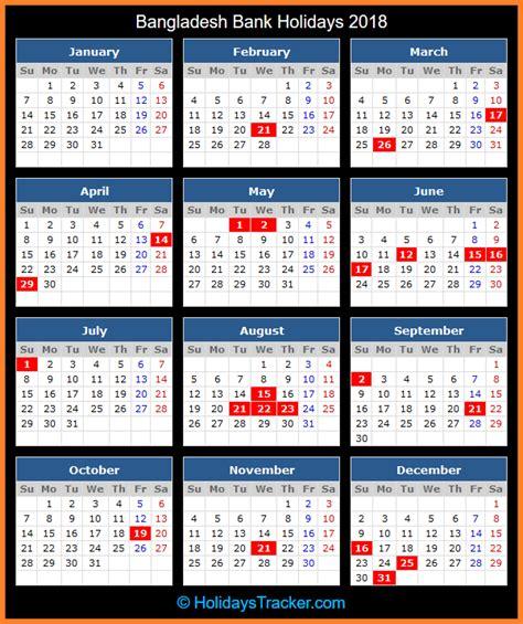 Calendar 2018 Holidays In Bangladesh Bangladesh Bank Holidays 2018 Holidays Tracker