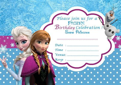 frozen invitation card free template frozen free printable invitation templates