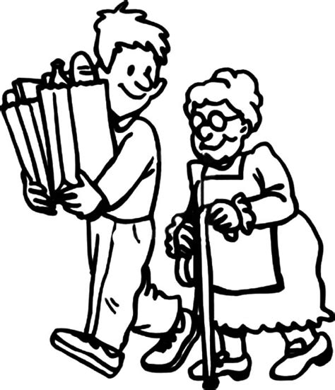 coloring page fun helping others coloring pages for