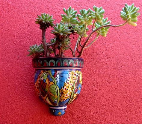 Mexican Wall Planters succulents for indoor wall planter mexican pottery
