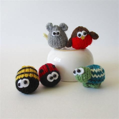tiny knitted animals patterns teeny animal knits knitting pattern by amanda berry